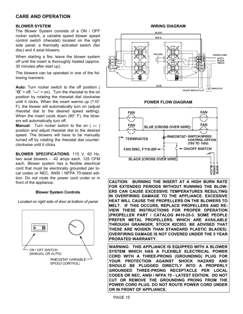 small resolution of 110 wiring diagram fan switch reostat