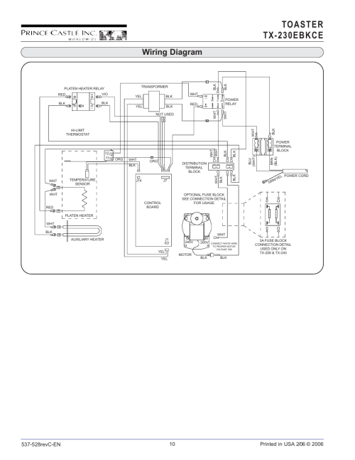 small resolution of toaster tx 230 ebkce wiring diagram prince castle tx 230ebkce user manual
