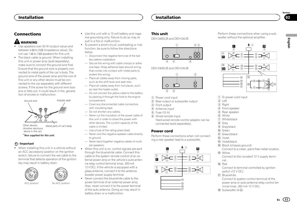 medium resolution of pioneer deh 24ub wire diagram wiring diagram pioneer deh 2400ub wiring diagram