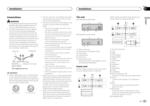 small resolution of pioneer deh 24ub wire diagram wiring diagram pioneer deh 2400ub wiring diagram