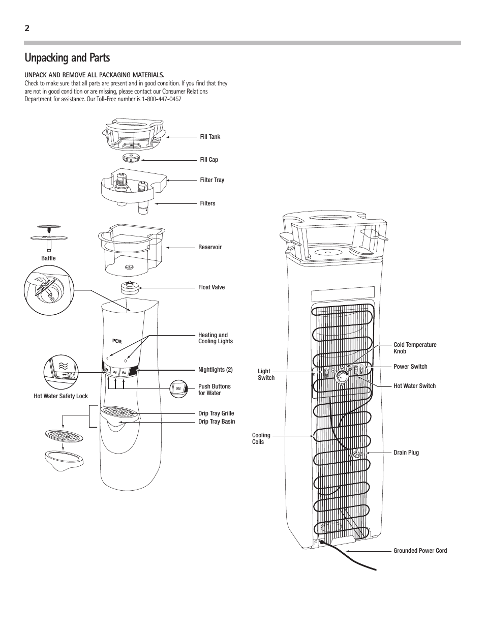 hight resolution of unpacking and parts pur water purification products water cooler pur300 user manual page 4 28