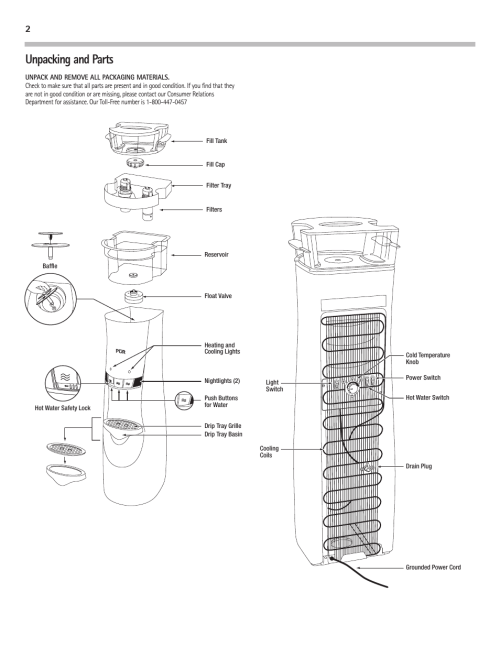 small resolution of unpacking and parts pur water purification products water cooler pur300 user manual page 4 28