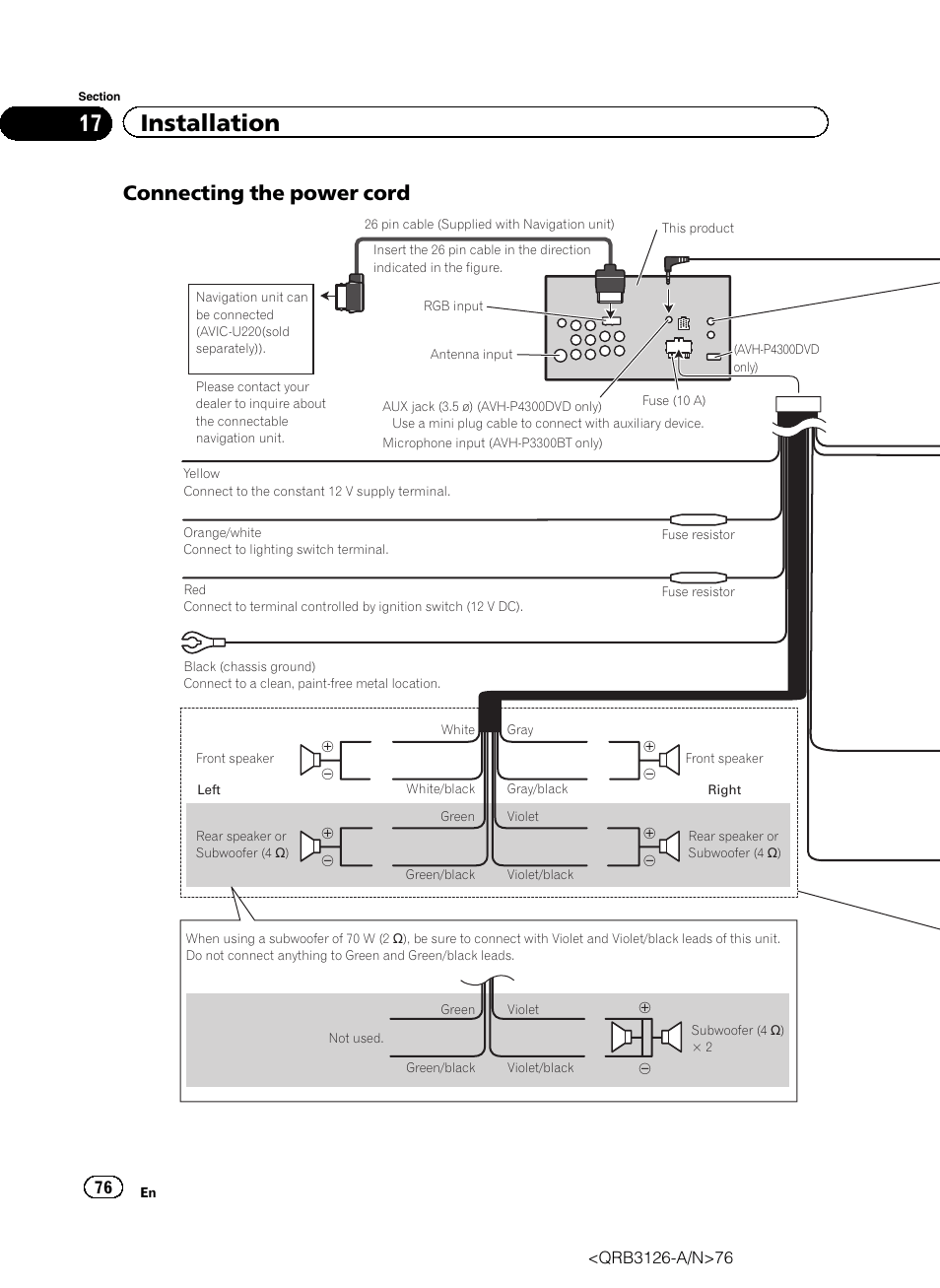 medium resolution of pioneer avh p4300dvd wiring diagram simple wiring diagrams rh 48 studio011 de pioneer avh 3300 pioneer avh p4300dvd wiring diagram