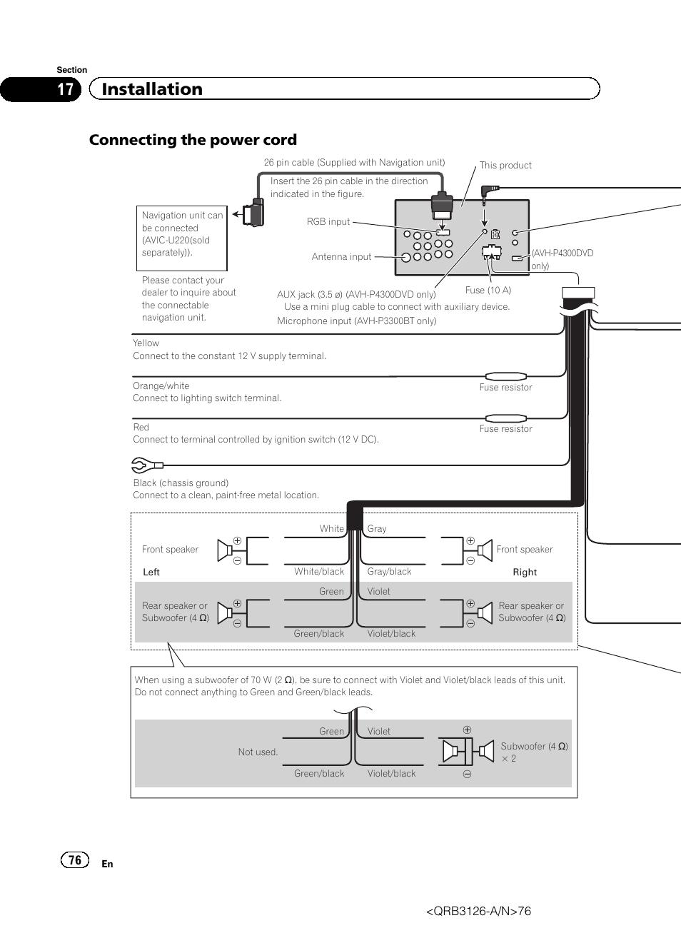 hight resolution of pioneer avh p4300dvd wiring diagram simple wiring diagrams rh 48 studio011 de pioneer avh 3300 pioneer avh p4300dvd wiring diagram