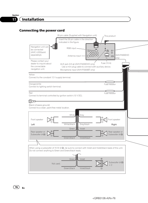 small resolution of pioneer avh p4300dvd wiring diagram simple wiring diagrams rh 48 studio011 de pioneer avh 3300 pioneer avh p4300dvd wiring diagram