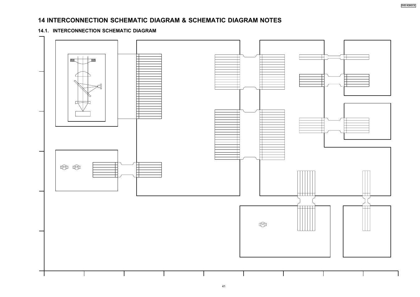 hight resolution of interconnection schematic diagram optical pick up unit dvd k29gcs interconnection schematic diagram panasonic dvd k29gcs user manual page 41 64