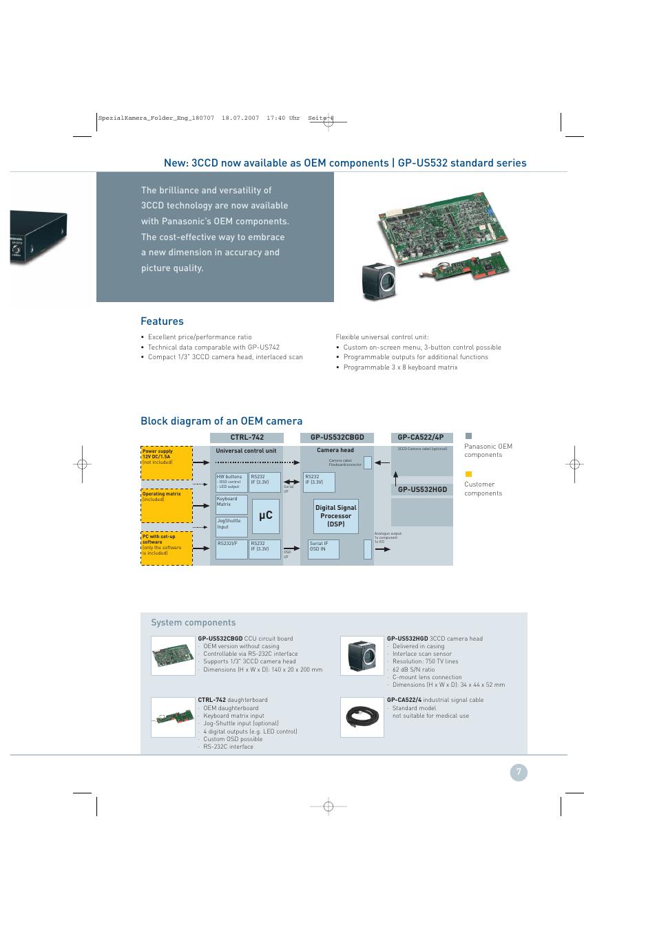 medium resolution of block diagram of an oem camera panasonic gp ks822 user manual page 7 12