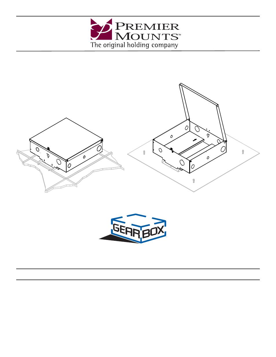 Premier Mounts GearBox Equipment Enclosure GB-PLEN1 User