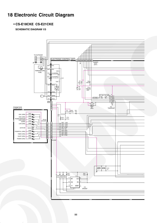 panasonic air conditioner circuit diagram