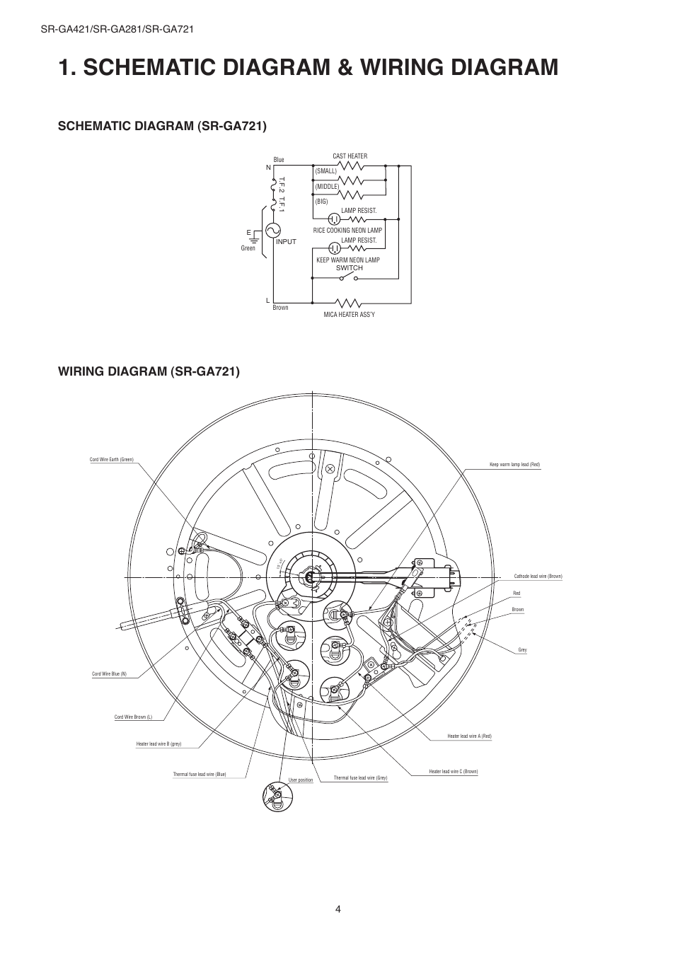 medium resolution of schematic diagram wiring diagram panasonic sr ga721 user manual page 4 18
