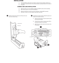 installation camera and lens installation ab c 1 pelco esprit es3012 user manual page 7 40 [ 954 x 1235 Pixel ]
