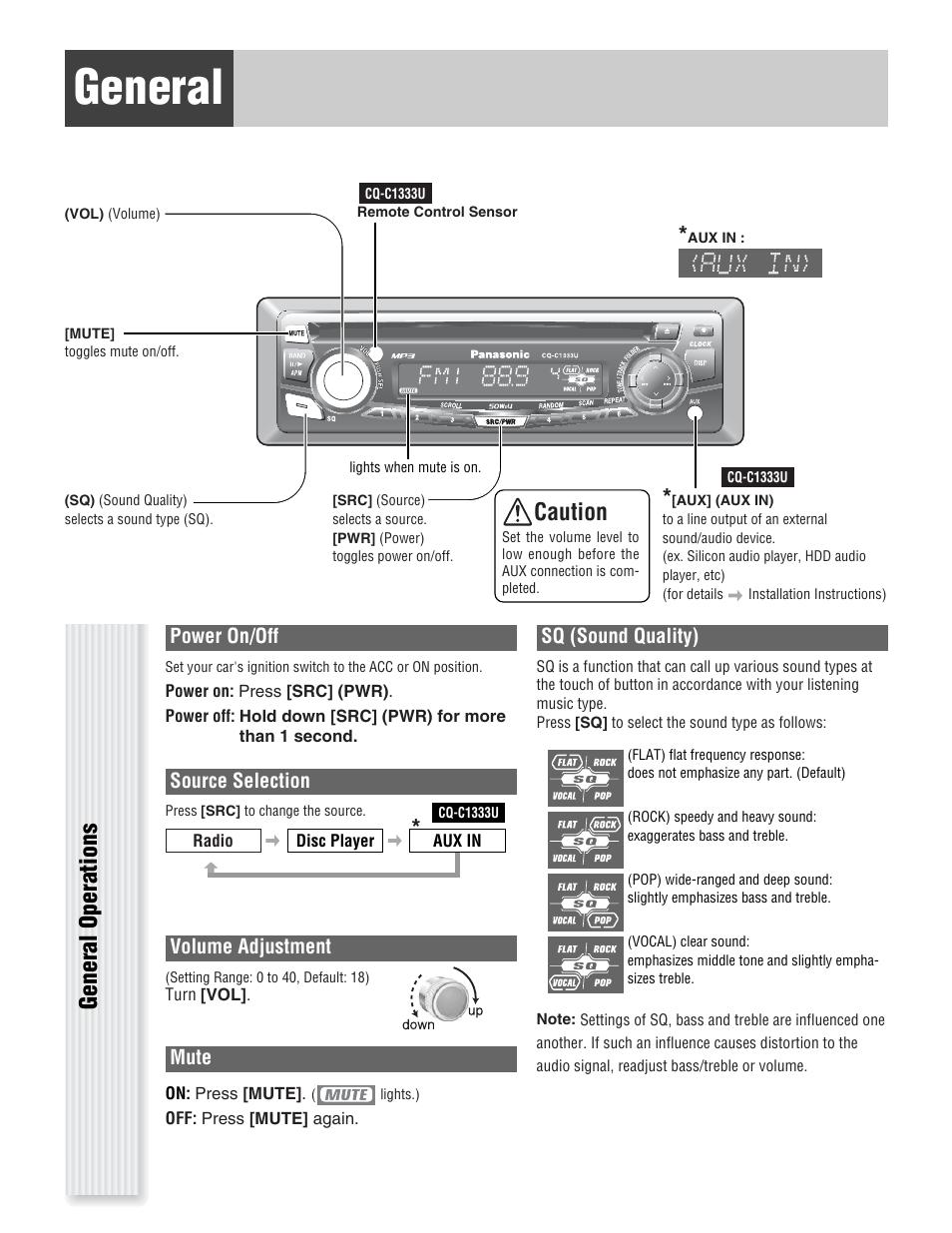 medium resolution of panasonic cq c u wiring diagram on panasonic car radio manuals panasonic car stereo auto