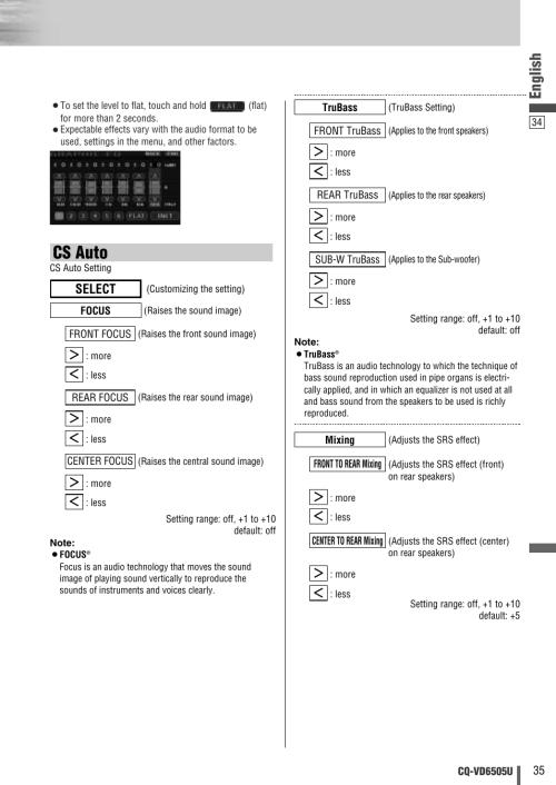 small resolution of cs auto english select panasonic cq vd6505u user manual page 35