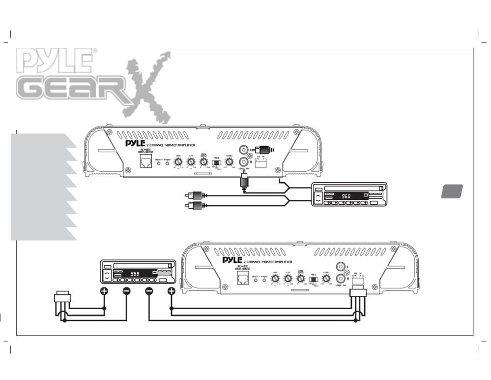 medium resolution of  mono input connections low level inputs high level inputs pyle on visio network amp