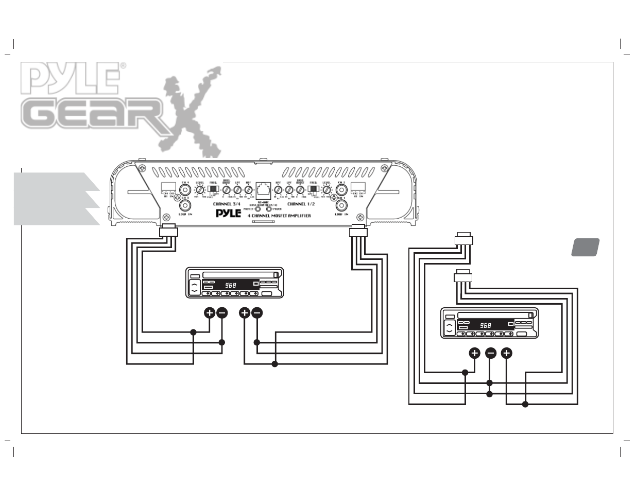hight resolution of high level mono input connections pyle audio pla 4300d user manual page 31 39