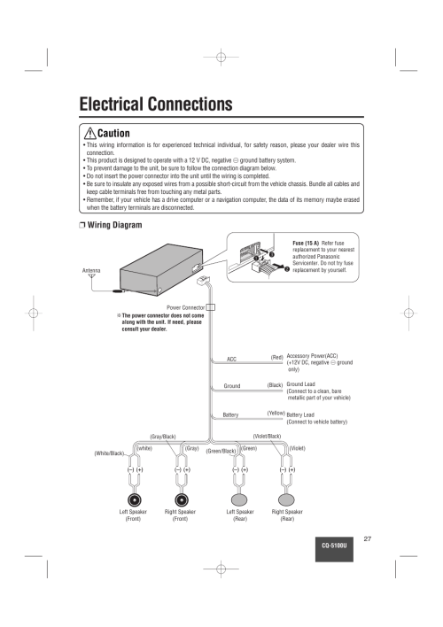 small resolution of radio wiring diagram for panasonic cq 5300u wiring diagram panasonic cq 5100u wiring diagramradio wiring diagram