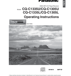 panasonic cq c1305l user manual 24 pages also for cq c1335l [ 954 x 1235 Pixel ]