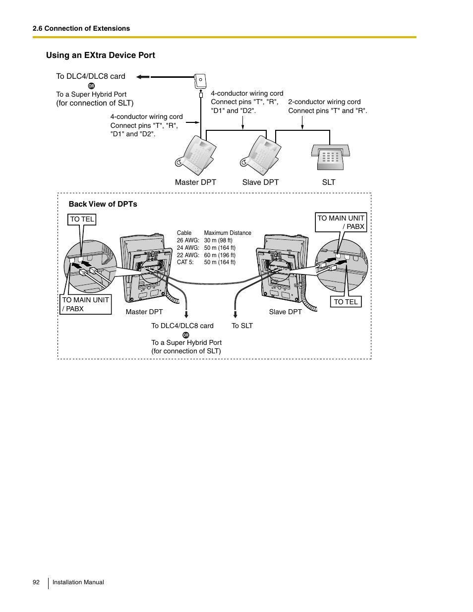 medium resolution of panasonic hybrid ip pbx kx tda50 user manual page 92 158