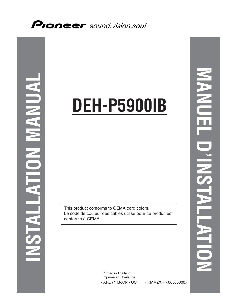 pioneer deh p5900ib wiring diagram electrical for car manual one word quickstart guide book installation inst alla tion manuel d rh manualsdir com p59001b