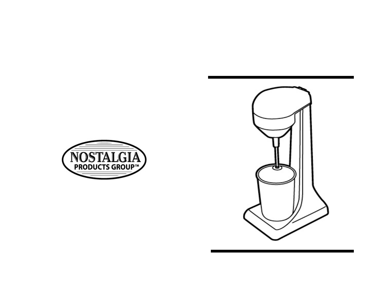 Nostalgia Electrics DRINK MIXER/BLENDER DMB-790 User