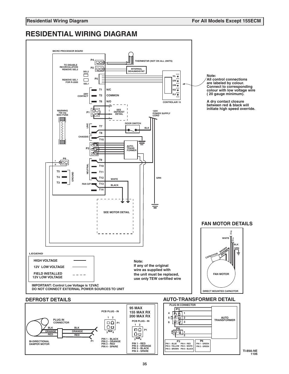 medium resolution of residential wiring diagram fan motor details auto transformer detail defrost details
