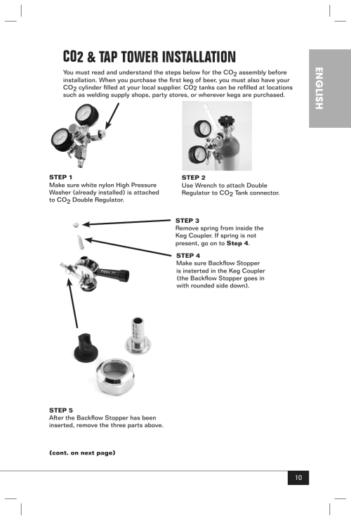 small resolution of co2 tap tower installation english nostalgia electrics krs 2150 user manual page 12 20