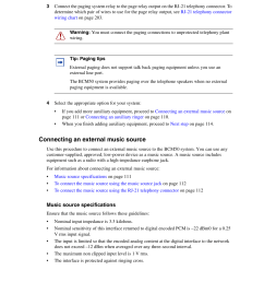 connecting an external music source nortel networks bcm50 user manual page 111 280 [ 954 x 1235 Pixel ]