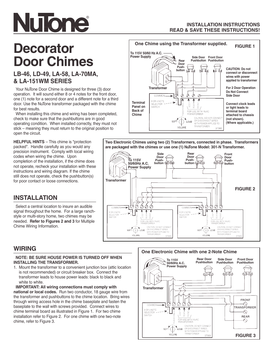 Nutone Door Chime Wiring Diagram : 32 Wiring Diagram