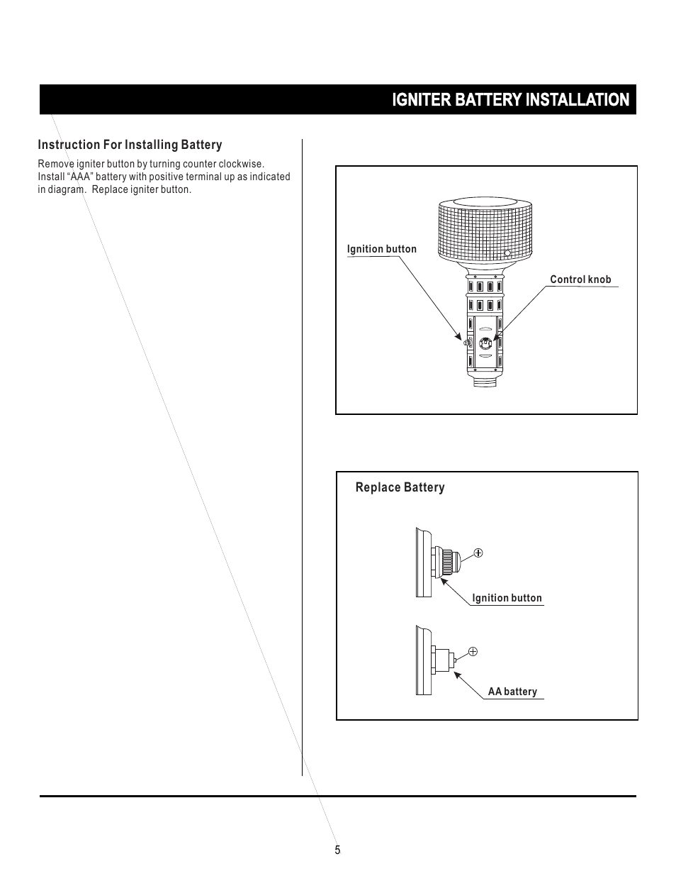 hight resolution of igniter battery installation napoleon grills propane patio heater srph01 user manual page 5 14