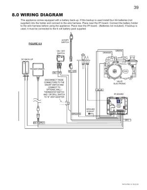 0 wiring diagram | Napoleon Fireplaces GDS60N User Manual