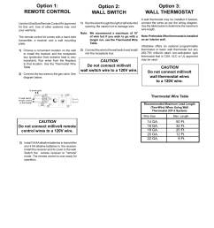 installation option 3 wall thermostat option 1 remote control regency ultragloow g36d lp propane user manual page 29 40 [ 954 x 1235 Pixel ]