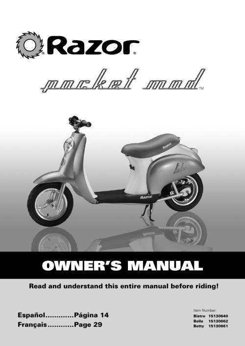 small resolution of razor pocket mod scooter diagram diy enthusiasts wiring diagrams u2022 razor e300 wiring diagram