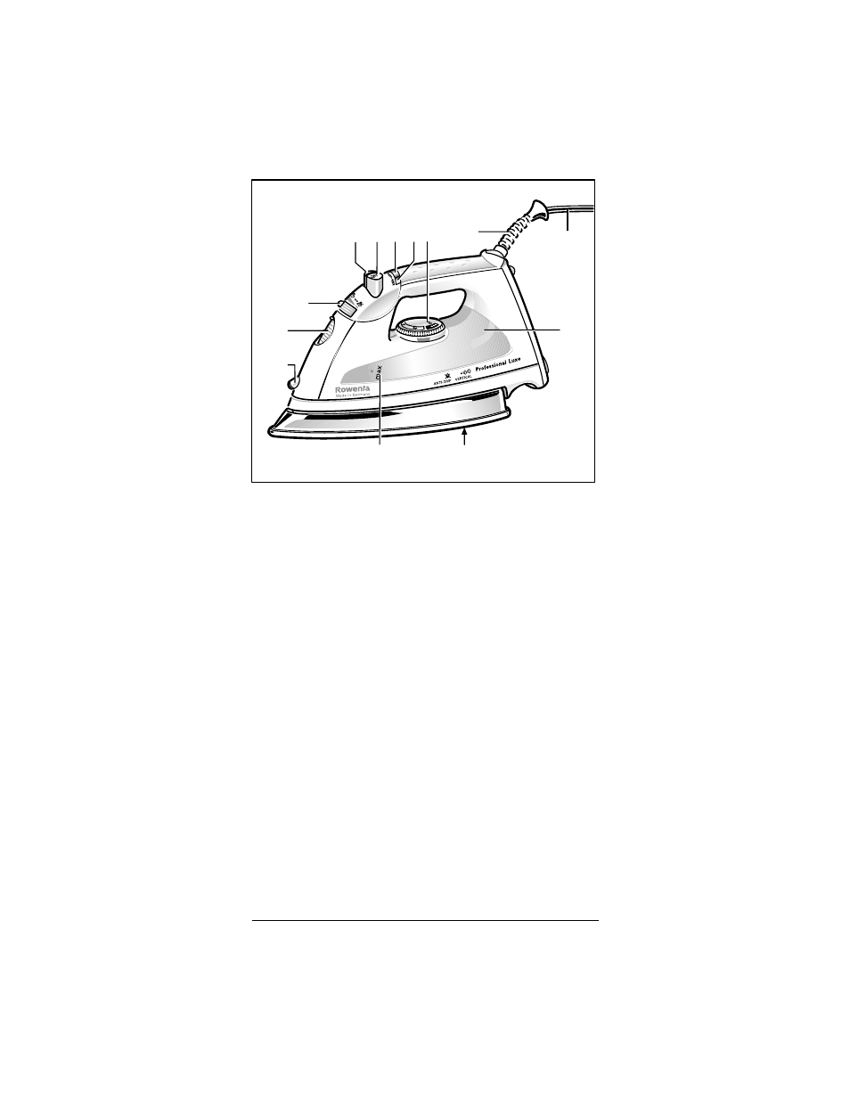 ROWENTA Professional Luxe Luxe Steam Iron User Manual