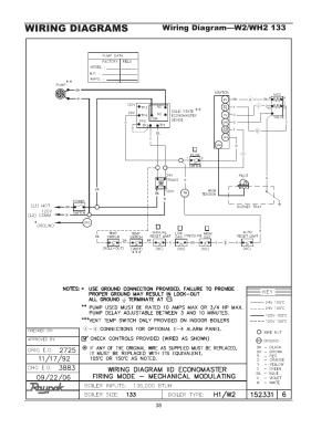 Wiring diagrams, Wiring diagram—wh1 01810261 | Raypak 1334001 User Manual | Page 38  52