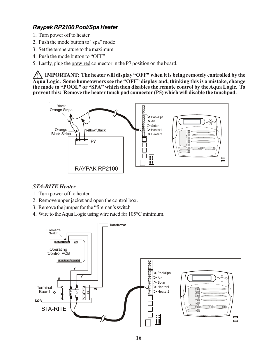 hight resolution of raypak remote wiring diagram