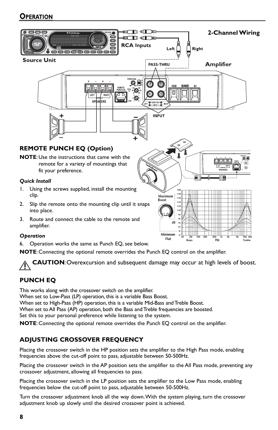 hight resolution of 8remote punch eq option peration punch eq adjusting crossover rockford fosgate t 600 4 wiring diagram