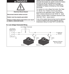 section 10 wiring 1 line voltage thermostat wiring danger roberts gorden gordonray bh bh 40 user manual page 49 70 [ 954 x 1235 Pixel ]
