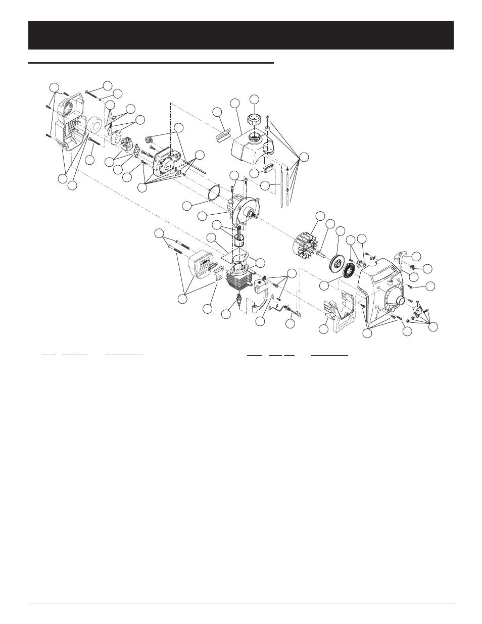medium resolution of parts list engine parts ryobi 700r 2 cycle gas trimmer ryobi 700r