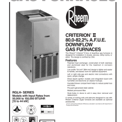 Rheem Furnace Wiring Diagram Electrical Panel Knockout Sizes 07eauer User Manual | 8 Pages Also For: 07nauer, 05eauer, 05nauer
