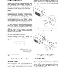 pressure drop in feet of head feedwater regulator fig 10 air separation expansion tank raypak hi delta 302b user manual page 17 60 [ 954 x 1235 Pixel ]