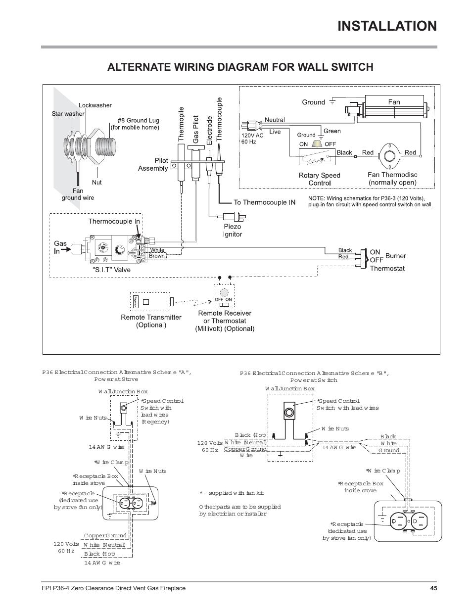 Gas Fireplace Switch Wiring