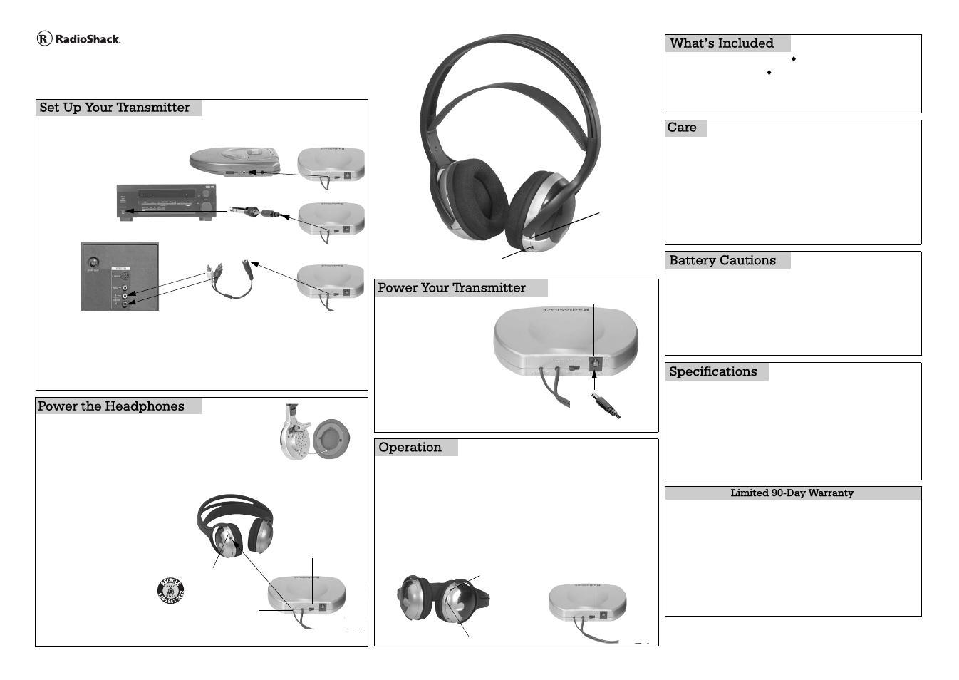 Radio Shack 33 User Manual