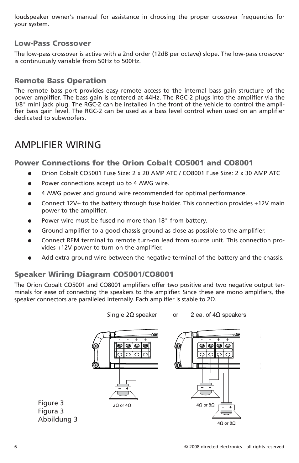 medium resolution of amplifier wiring low pass crossover remote bass operation orion c08001 user manual page 7 66