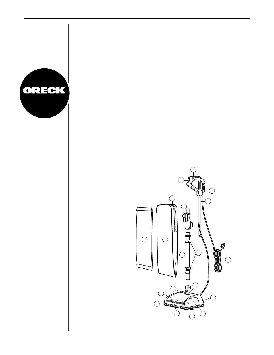 Oreck Upright Vacuum XL Silver Series U3771 User Manual
