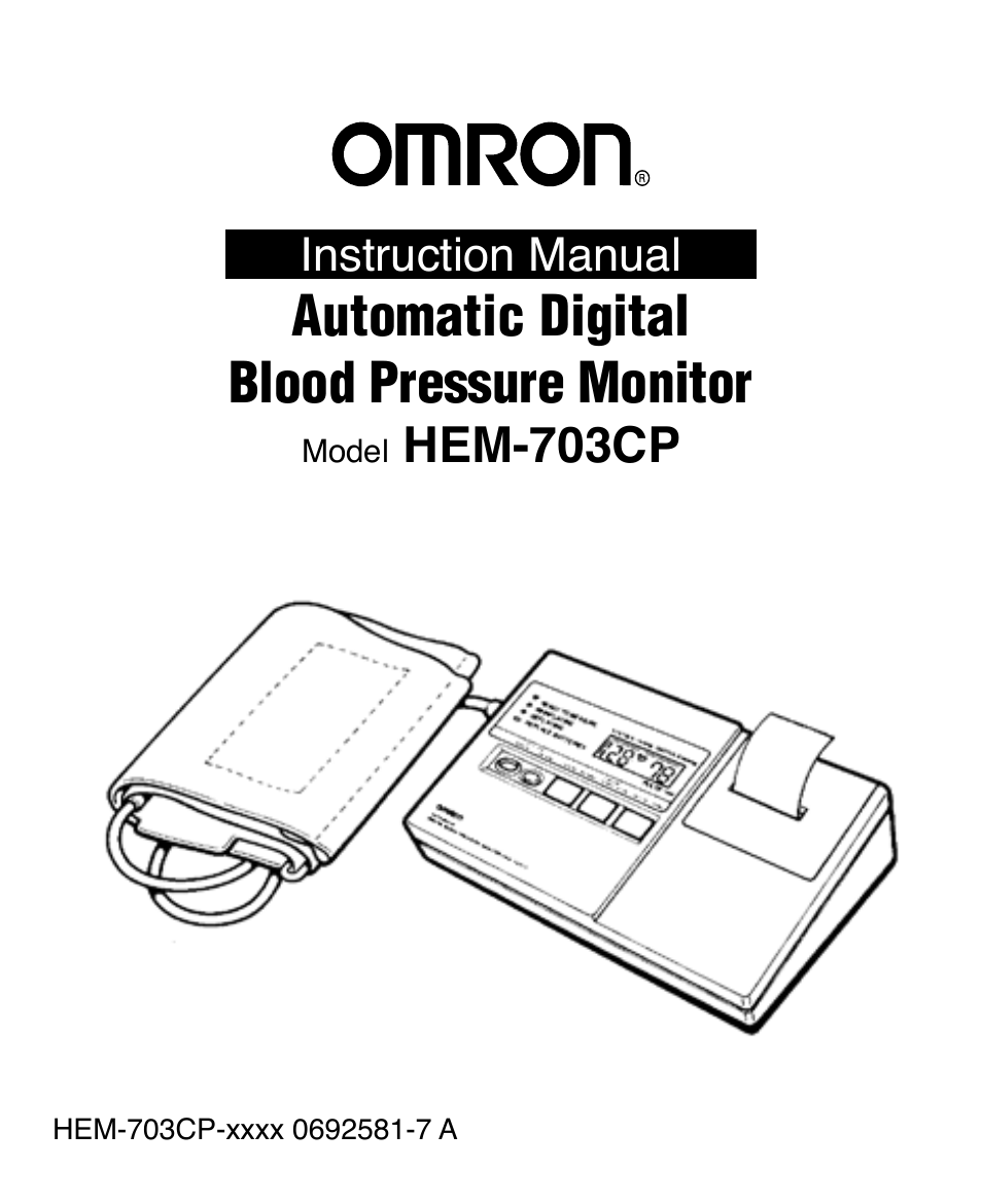 Omron Healthcare AUTOMATIC DIGITAL BLOOD PRESSURE MONITOR