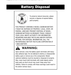 discarding the vacuum battery disposal warning oreck qs110 user manual page 9 12 [ 954 x 1475 Pixel ]