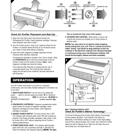 operation oreck air purifier placement and start up oreck air purifier s silence technology oreck xl rofessional air purifier air8 series user manual  [ 954 x 1235 Pixel ]
