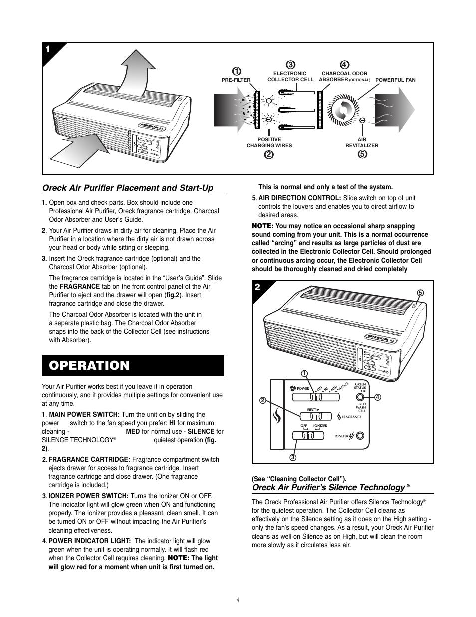medium resolution of operation oreck air purifier placement and start up oreck air purifier s silence technology oreck xl rofessional air purifier air8 series user manual