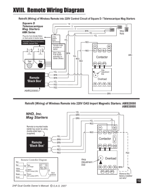 Xviii remote wiring diagram, Nhd, inc mag starters, Overload | Oneida Air Systems Super Dust