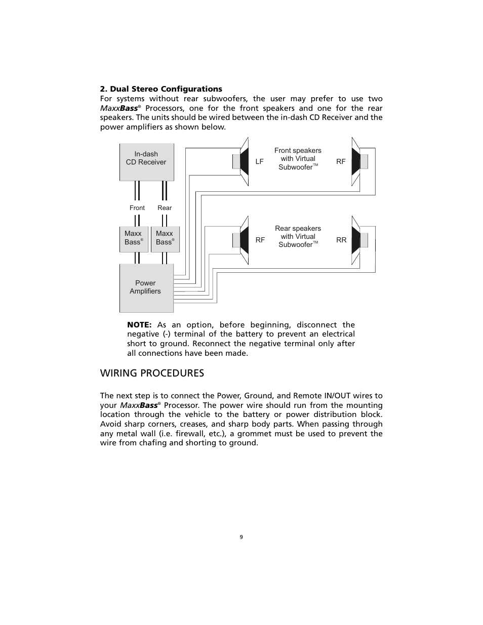 medium resolution of wiring procedures orion car audio orion maxxbass user manual page 10 17